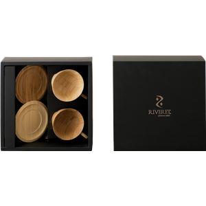 RIVERET(リヴェレット) 竹製 ティーカップ&ソーサー ペア RV-202WB