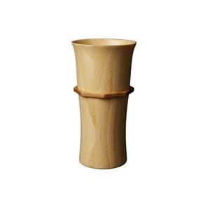 RIVERET(リヴェレット) 竹製 タンブラーL ホワイト RV-104LW - 拡大画像