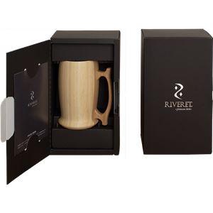 RIVERET(リヴェレット) 竹製 ビアマグ ホワイト RV-204W