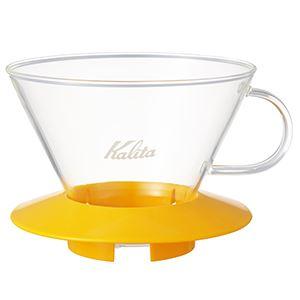 Kalita(カリタ) 185(2-4人用)x1 /ガラスドリッパーマンゴーイエロー 5067