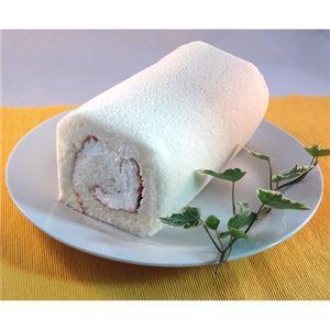 白いロールケーキ 1本 - 拡大画像
