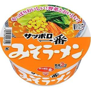 サッポロ一番 みそラーメンどんぶり 12食分×3ケース(計36食) - 拡大画像