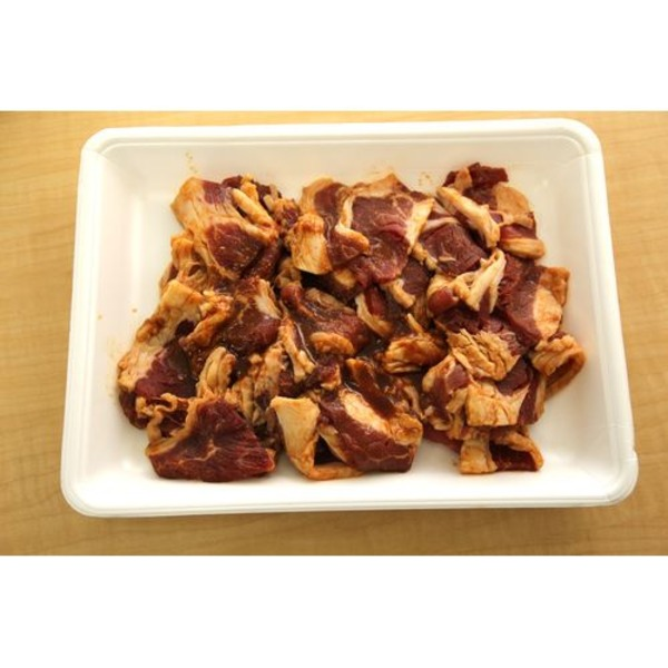アメリカ産焼肉用タレ漬け牛カルビ(辛味噌味)2kg