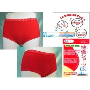 【3枚セット】軽失禁パンツ/快適ショーツDX【女性用/3Lサイズ】レッド(赤)