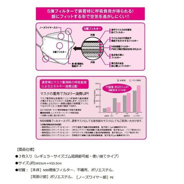 ダイエットスマートマスク 【3枚入り×3個セット】 合計9枚 5層フィルター PM2.5対応 立体構造