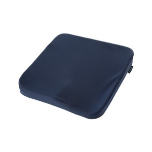 グット低反発クッション/座布団 【ネイビー】 立体座面 姿勢サポート 一年中快適 - 拡大画像