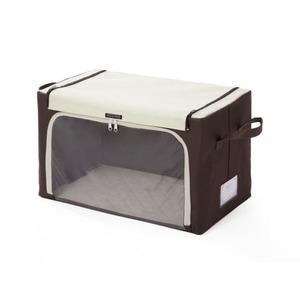 積み重ねて収納できる 炭入り窓付き収納ボックス中