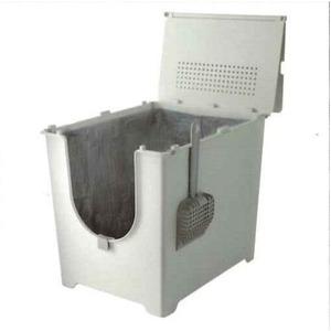 フリップリターボックス/折りたたみ式猫用トイレ 【シームレス構造】 幅40cm×奥行52cm 『Modkat モデキャット』