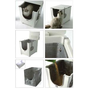 フリップリターボックス/折りたたみ式猫用トイレ...の紹介画像2