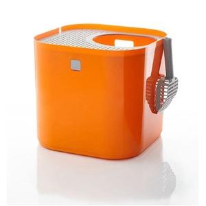 リターボックス/猫用トイレ 【オレンジ】 シンプルモダン お手入れ簡単 『Modkat モデキャット』