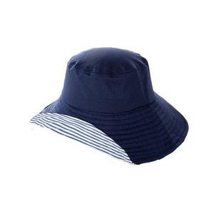 COOL折りたためるUV日よけ帽子 ネイビー×ボーダー