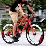 クロスバイク 700c(約28インチ)/レッド(赤) シマノ21段変速 アルミフレーム 重さ 14.7kg 【NAIAD】 ナイアード CAC-023
