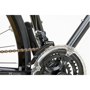 クロスバイク 700c(約28インチ)/ブラック(黒) シマノ21段変速 アルミフレーム 軽量 重さ11.2kg 【VENUS】 ビーナス CAC-021