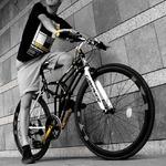 クロスバイク 700c(約28インチ)/ブラック(黒) シマノ8段変速 重さ13.9kg 【TRINTA】 トリニタ CAC-022