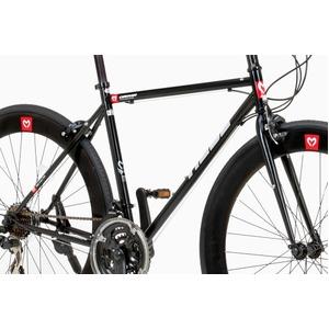 クロスバイク 700c(約28インチ)/ホワイト(白) シマノ21段変速 軽量 重さ11.2kg 【HEBE】 ヘーべー CAC-024