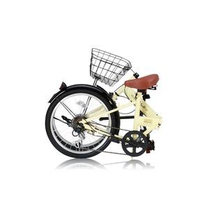 折りたたみ自転車 20インチ/アイボリー シマ...の紹介画像3