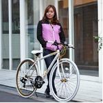 クロスバイク 700c(約28インチ)/ホワイト(白) シマノ7段変速 重さ/ 12.0kg 軽量 アルミフレーム 【LIG MOVE】