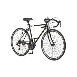 ロードバイク 700c(約28インチ)/ブラック(黒) シマノ21段変速 重さ/14.6kg 【Grandir Sensitive】 - 拡大画像