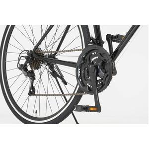 ロードバイク 700c(約28インチ)/ブラック(黒) シマノ21段変速 重さ/14.6kg 【Grandir Sensitive】