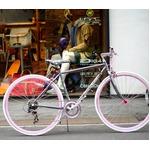 クロスバイク 700c(約28インチ)/メタル×ピンク シマノ7段変速 重さ/11.8kg 【Raychell+】 レイチェルプラス R+712 Andersen