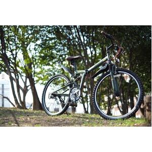 折りたたみ自転車 26インチ/オリーブ シマノ...の紹介画像6