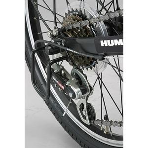 折りたたみ自転車 20インチ/イエロー(黄) シマノ6段変速 【HUMMER】 ハマー FDB206 W-sus