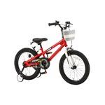子供用自転車 18インチ/レッド(赤) 組立式バスケット 軽量 重さ/11.9kg 【ROYAL BABY】ロイヤルベビー Freestyle18