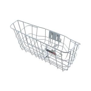 クロスバイク/MTB用バスケット(自転車カゴ) 前用/ワイド式 【SIDE-A】 WBO-001 シルバー(銀) 〔自転車パーツ/アクセサリー〕 - 拡大画像