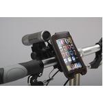iPod/iPhoneケース&ミニバー装備ブラケットセット 【IBERA】 IB-PB3+Q2 ブラック(黒) 〔自転車パーツ/アクセサリー〕