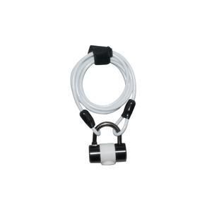 ワイヤーロック/多機能ロック 1800mmロングワイヤー 【J&C】 JC-019W ホワイト(白) 〔自転車パーツ/アクセサリー〕