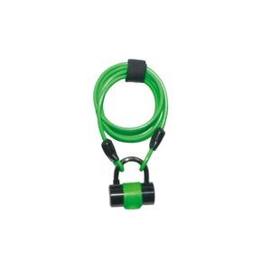 ワイヤーロック/多機能ロック 1800mmロングワイヤー 【J&C】 JC-019W グリーン(緑) 〔自転車パーツ/アクセサリー〕