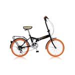 折りたたみ自転車 20インチ/オレンジ シマノ6段変速 【MIWA】 ミワ FD1B-206
