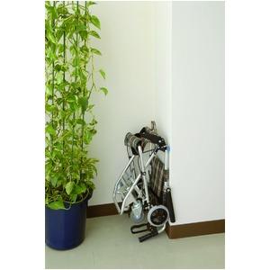 介助式小型折りたたみ車椅子 チビポン/チェックダークグリーン(緑) 携帯タイプ/跳ね上げ式肘かけ 【MIWA】 ミワ HTB-AC1