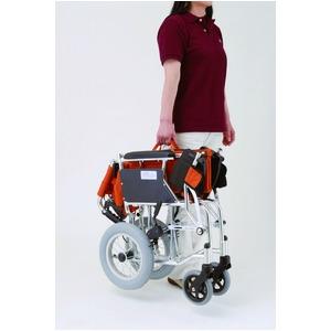 介助式折りたたみ車椅子 ミニポン/チェックグリーン(緑) アルミ製 軽量コンパクトタイプ 【MIWA】 ミワ HTB-12