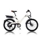 電動アシスト自転車 24インチ/ホワイト(白) 8段変速 アルミフレーム 【A2B】 エーツービー Hybrid/24