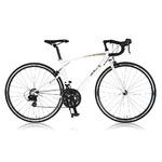 ロードバイク 700c(約28インチ)/ホワイト(白)シマノ21段変速 重さ/ 11.8kg 軽量 アルミフレーム 【R7