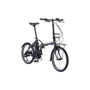 折りたたみアシストバイク 20インチ/ブラック(黒) シマノ7段変速 アルミフレーム 【HUMMER】 ハマー AL-FDB207E Assist - 拡大画像