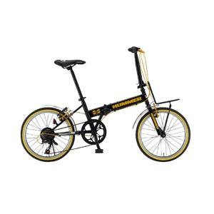 折りたたみ自転車 20インチ/ブラック(黒) シマノ7段変速 【HUMMER】 ハマー FDB207-R4 - 拡大画像