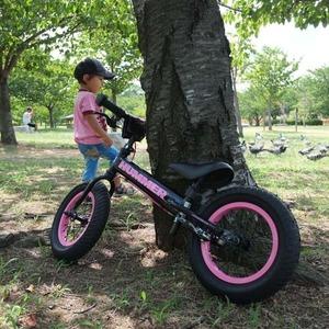 幼児用自転車/ペダル無し自転車 12インチ/ピンク 重さ4.7kg 専用スタンド付き 【HUMMER】 ハマー TRAINEE Bike - 拡大画像