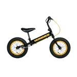 幼児用自転車/ペダル無し自転車 12インチ/イエロー(黄) 重さ4.7kg 専用スタンド付き 【HUMMER】 ハマー TRAINEE Bike
