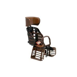 ヘッドレスト付きデラックス後ろ用子供乗せ(自転車用チャイルドシート)【OGK】RBC-007DX3ブラック(黒)/ブラウン