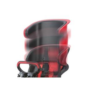 ヘッドレスト付きフロント子供乗せ(自転車用チャイルドシート) 前用 【OGK】FBC-011DX3 ブラック(黒)/レッド(赤)