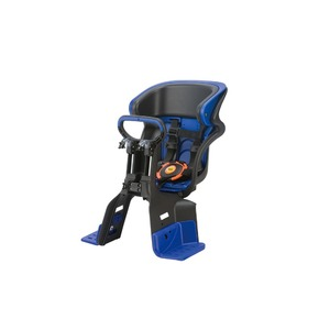 ヘッドレスト付きフロント子供乗せ(自転車用チャイルドシート)前用【OGK】FBC-011DX3ブラック(黒)/ブルー(青)