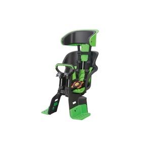 ヘッドレスト付きフロント子供乗せ(自転車用チャイルドシート) 前用 【OGK】FBC-011DX3 ブラック(黒)/グリーン(緑)