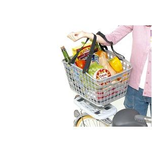 後ろ用バスケット(自転車カゴ) 固定式 【OGK】RB-009 アルミシルバー(銀) 〔自転車パーツ/アクセサリー〕