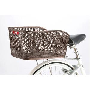 大型後ろ用バスケット(自転車カゴ) 固定式 【OGK】RB-012 パールブラウン 〔自転車パーツ/アクセサリー〕