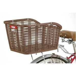 後ろ用バスケット(自転車カゴ) 固定式 【OGK】RB-005 ダークブラウン 〔自転車パーツ/アクセサリー〕