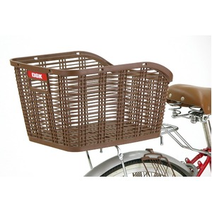 後ろ用バスケット(自転車カゴ) 固定式 【OGK】RB-005 ライトグレー(灰) 〔自転車パーツ/アクセサリー〕