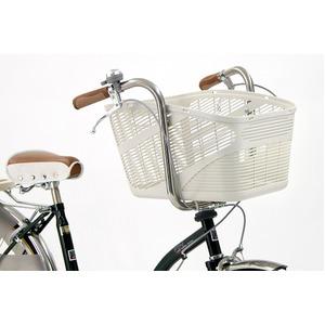 大型バスケット(自転車カゴ) 前/後ろ用 【OGK】SB-011 Aグレー(灰) 〔自転車パーツ/アクセサリー〕