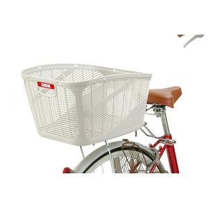 大型バスケット(自転車カゴ) 前/後ろ用 【OGK】SB-011 黒 〔自転車パーツ/アクセサリー〕